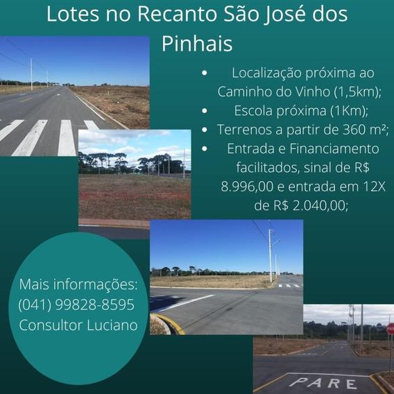 Lotes/terrenos No Recanto São José Dos Pinhais
