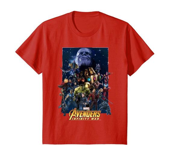 Camiseta Avengers Infinity War Team Marvel Rojo N