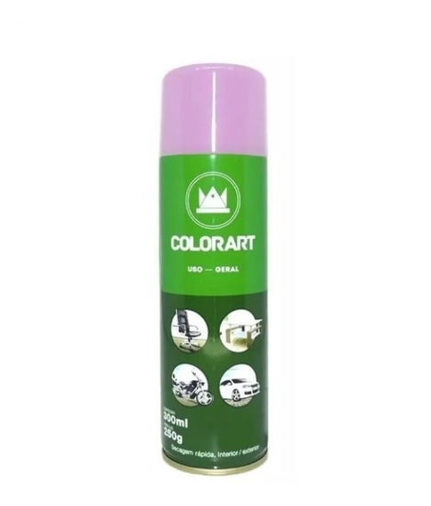 Tinta Spray Rosa Uso Geral Carro Casa Moto Artesanato 300ml