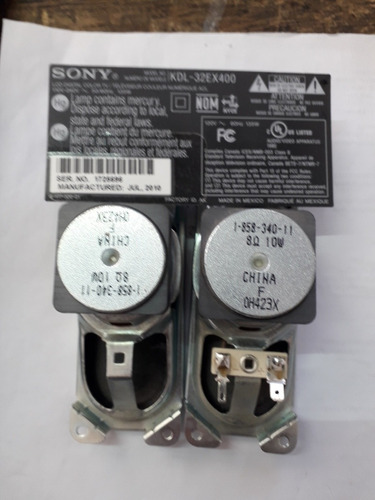 Imagen 1 de 2 de Bocinas De Tv Sony Kdl32ex400