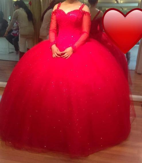 Vestido Para Xv Años Color Rojo