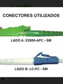 Fibra Cordão Optico E2000-apc Lc-pc 3 Metros Monomodo Duplex