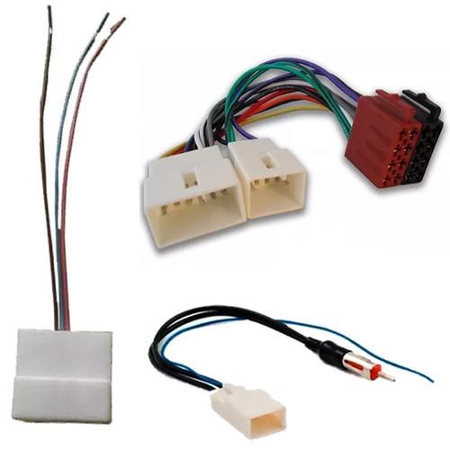 Plug Chicote Som + Adaptador Antena Toyota Yaris Corolla