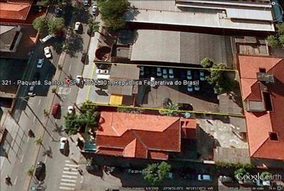 Terreno Para Alugar, 800 M² Por R$ 6.800/mês - Vila Mathias - Santos/sp - Te0136
