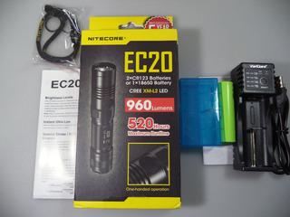 Lanterna Nitecore Ec20 Com Bateria E Carregador Leia