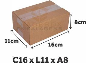 50 Caixas De Papelão Correio Sedex Pac Tam. 16x11x8 Maleta