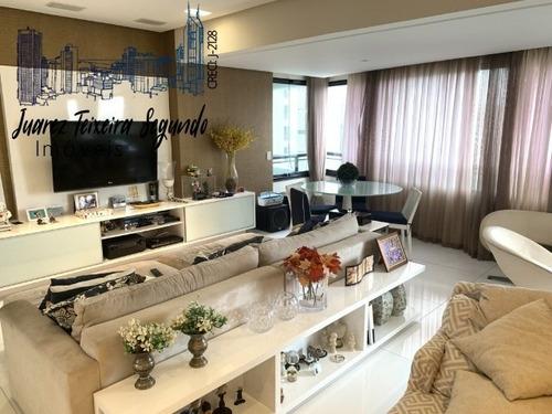Imagem 1 de 11 de Apartamento 4/4 Com 3 Suítes Andar Baixo Nascente Mansão Professor Estácio Gonzaga Oportunidade! - 07167 - 68164949