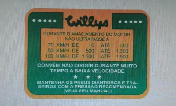 Adesivos Do Parabrisa Do Aero Willys