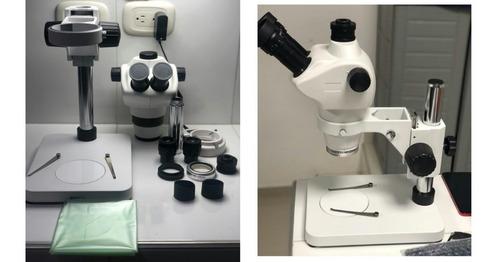 Microscopio trinocular confocal con luces LED superior e inferior AmScope SF-2TRA 8X-50X