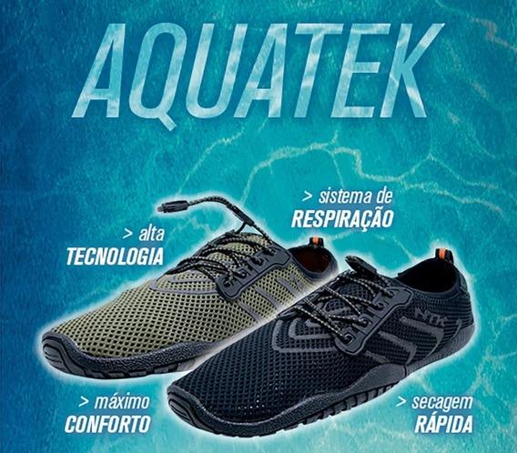 Sapatilha Tênis Trilha Aventura Pesca Rio Aquatek - Preto