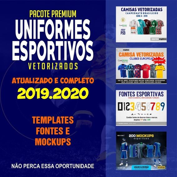Uniformes Esportivos Vetorizados- Pacote Premium