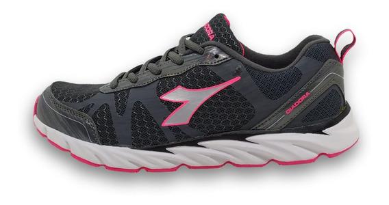 Zapatilla Diadora Circa Gris Coral 35 36 37 38 39 Running