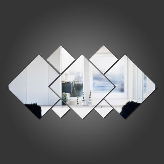 Espelho Decorativo Acrílico Quadrados 7pçs P20