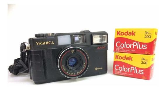 Câmera Yashica Dx Com Filmes - Funcionando