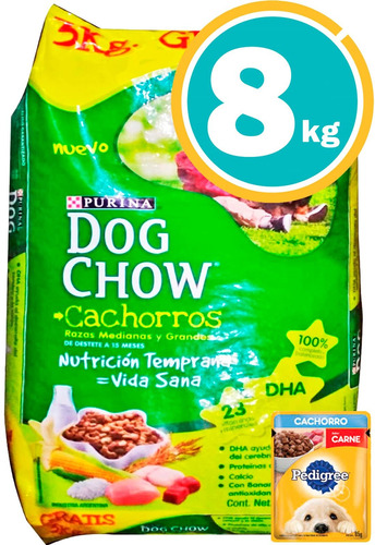 Dog Chow Perros Cachorro 8kg Y Salsa + Envío Gratis*