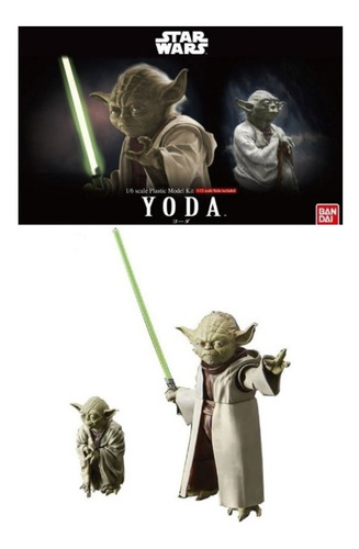 Imagen 1 de 8 de 1/6 Yoda & 1/12 Yoda Star Wars Bandai Model Kit