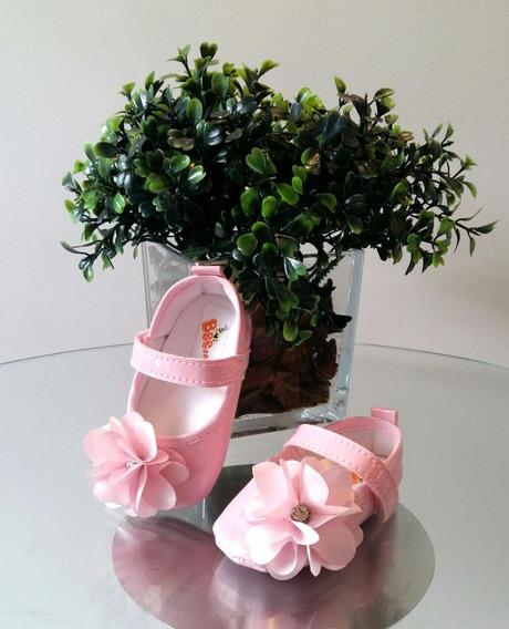 Sapatilha De Bebê Rosa - Calçado De Bebê