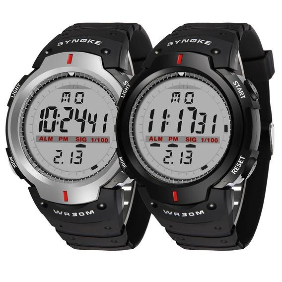 Synoke Masculino Relógio Digital À Prova D'água Esportiv