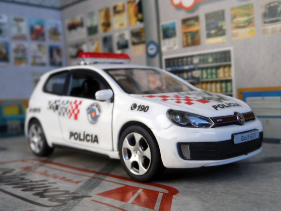 Miniatura Vw Golf Gti Polícia Militar Pm Sp - Atual