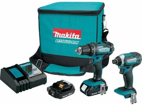 Taladro Y Atornilladora Makita 18v Litio Combo Bateria 1.5 A