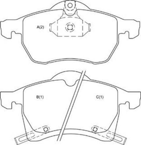 Pastilha Diant Astra Aro 15/vectra /zafira /meriva Aro 15 --