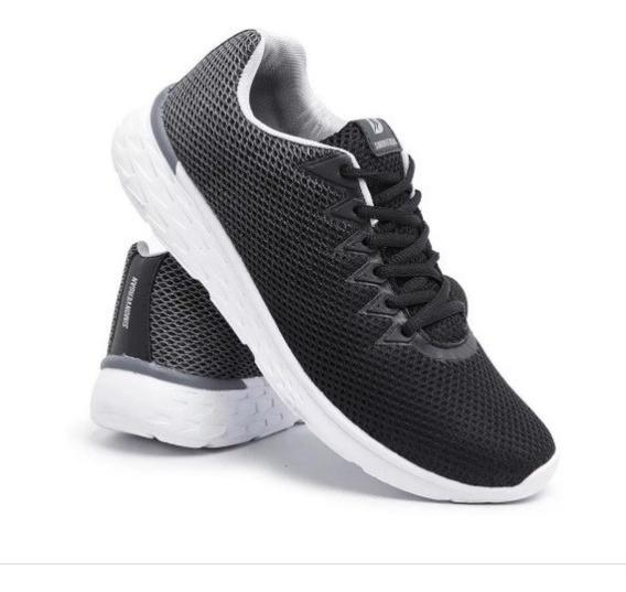 Tênis Caminhada Confortável Tecido Degrade Unissex