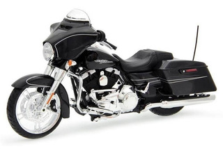 Miniatura Moto Harley Davidson Street Glide 2015 Preta 1:12