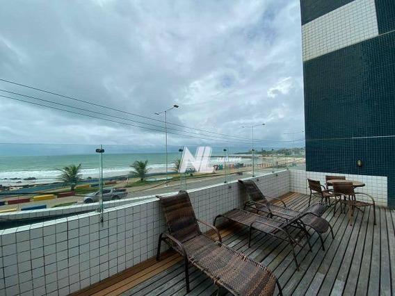 Flat Beira-mar Para Alugar Em Areia Preta - Natal/rn - Fl0007