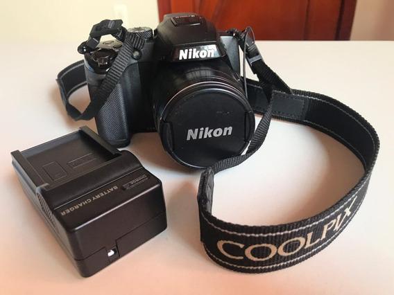 Nikon Coolpix P500 12.1 Mp 36x Full Hd + Cartão Sd