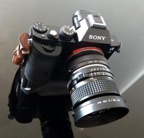 Lente Minolta Md 28mm+adaptador Para Camera Sony E-mount\nex
