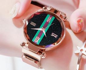 Relógio Feminino De Luxo Números Romanos Frete Grátis!!!