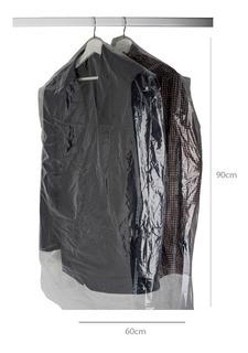 1000 Bolsas De Tintorería 60/90 Cm Transparente No Opaca