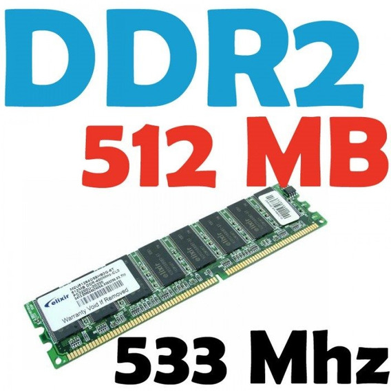 Memorias Ddr2 512 Mb 533 Mhz Para Pc 8 Chips