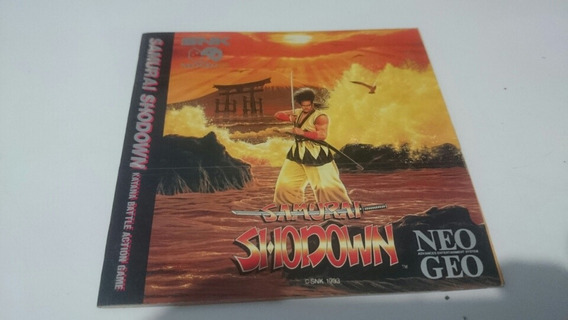 Manual Original Samurai Shodown Neo Geo Cd Americano Raro