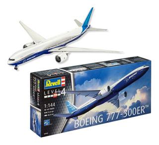 Avião Boeing 777 - 300er Kit Revell 1/144 Plastimodelismo