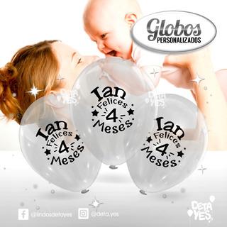 Globos Personalizados R12 Transparentes X 12 Unds