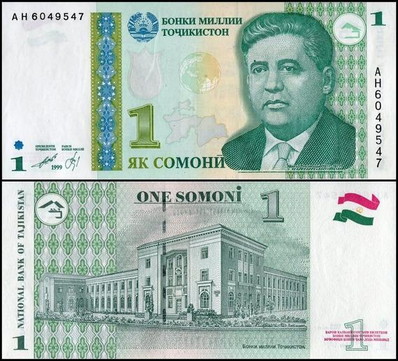 Tajikistan Tajiquistão P-14 Fe 1 Somoni 1999 (2000) * C O L*