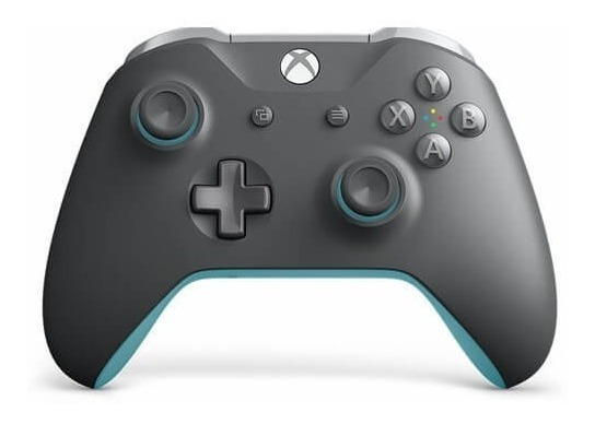 Controle Xbox One S Original Grooby Cinza E Azul