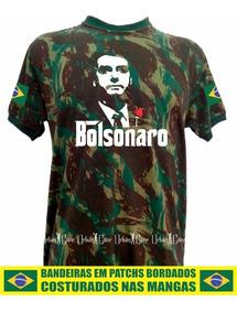 Bolsonaro Camisa Camuflada Poderoso Chefão