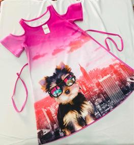 Vestido Justice Para Niña Talla 10 Nuevo Rosa/gatito