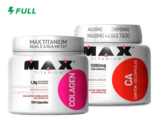 Colágeno Hidrolisado + Oleo De Cartamo - Max Titanium