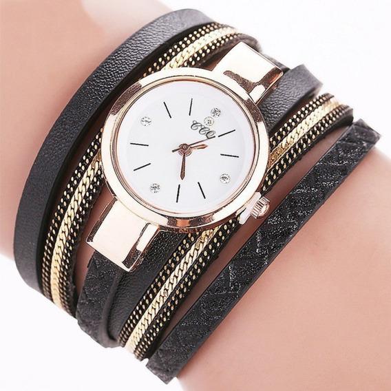 Relógio Pulseira De Couro, Vintage Feminino