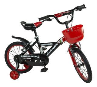 Bicicleta Infantil Rodado 16 Lamborghini Premium Cuotas