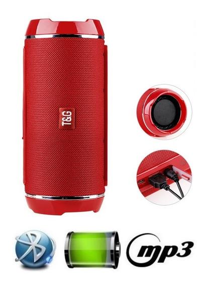 Caixa De Som Super Bass Bluetooth Cartão Sd Mp3 Usb P2 Verm