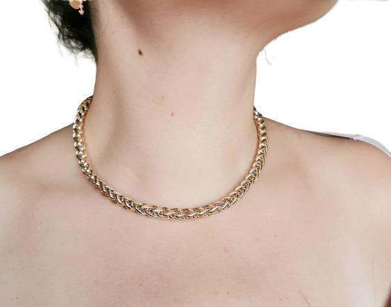 Cadena/gargantilla Para Mujer Oro Laminado 18k