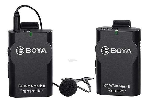 Microfone De Lapela Sem Fio Boya By-wm4 Mark Ii Wireless