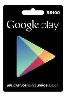 Cartão Google Play R$100
