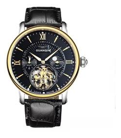 Relógios Automático Masculino Guanqin Marca De Luxo Original