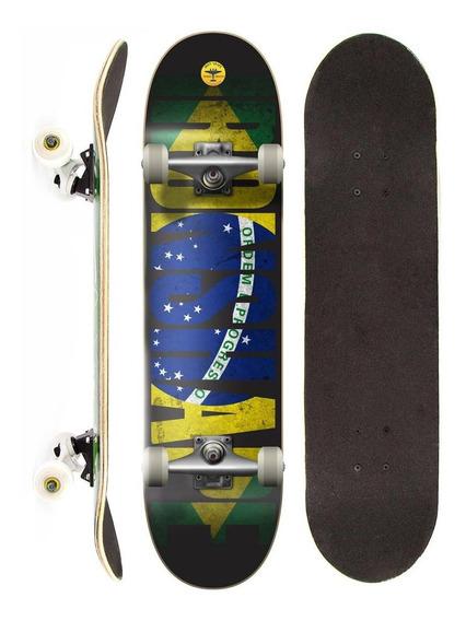 Skate Montado Completo Iron Profissional Brasil Street