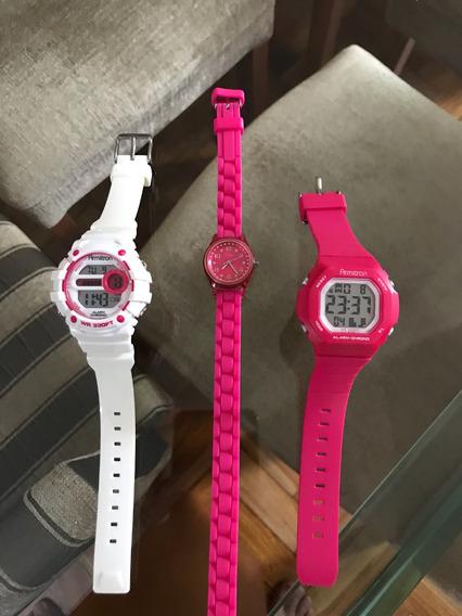 3 Relógios Femininos - 2 Armitron E 1 Guess